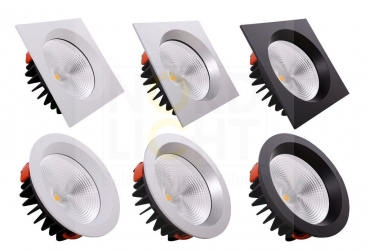 DLR-200 Multi-Power LED Downlight mit Wechsel-Front 3000K
