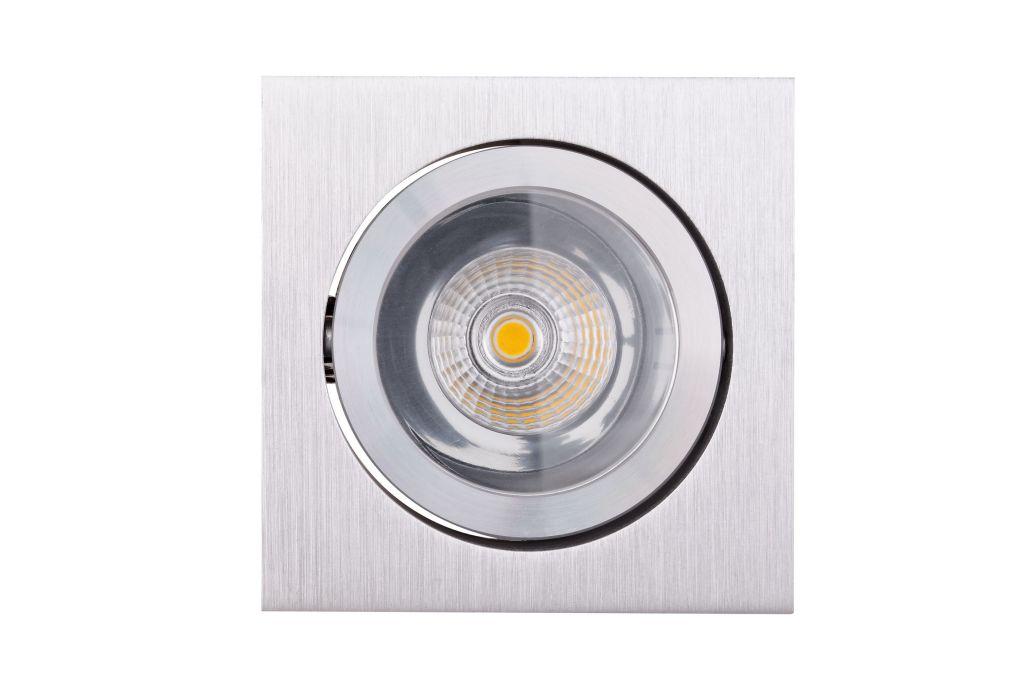nordlicht beleuchtungssysteme gmbh ne 6 80 hochglanz reflektor led spot 6 watt schwenkbar eckig. Black Bedroom Furniture Sets. Home Design Ideas