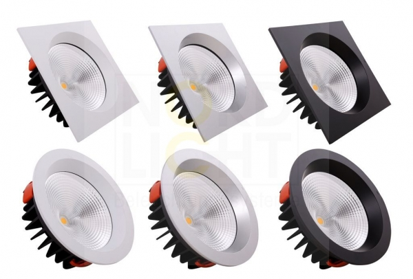 DLR-200 Multi-Power LED Downlight mit Wechsel-Front 4000K