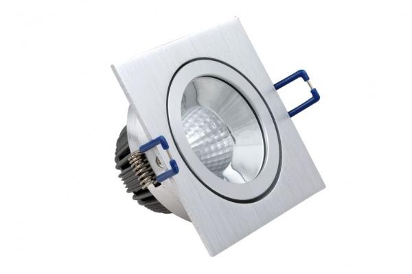 nordlicht beleuchtungssysteme gmbh ne 10 105 hochglanz reflektor led spot 10 watt schwenkbar eckig. Black Bedroom Furniture Sets. Home Design Ideas
