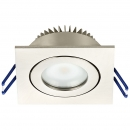 SFL07-68E Alu LED Spot max. 7Watt Watt ~ IP44 ~ 700lm ~ ultraflach 30mm 3K